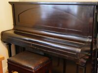 Upright Spencer London piano and piano stool