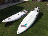 2 windsurfers