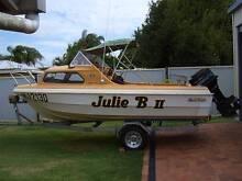 16' ½ cabin fibreglass boat on trailer Bundaberg Central Bundaberg City Preview