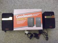Goodmans Active 50 stereo speakers with built-in amplifier