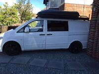 Mercedes Vito LWB campervan with AMG kit and black ML wheels , complete new kit out
