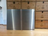 Rangemaster brushed steel splashback
