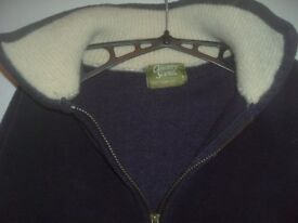 Navy zipped Fleece Jacket size L two front pockets