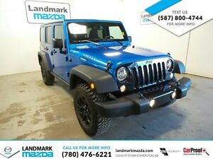 2015 JEEP WRANGLER UNLIIMITED/ WILLY PKG/ SALE PRICED-34995.00
