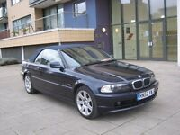 2003 bmw 320ci convertible automatic,79k 12 month mot, leather interior, hpi clear 100%
