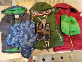Boy's Clothes Bundle Age 4 -5, Jackets and Shoes