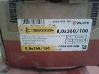 New Construction Bolt TG VZ Plate 8,0 x 360 MM/Pck a 100pcs box