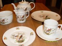 matching 6 cups,saucers & plates plus teapot, milk jug, sugar bowl and serving plate