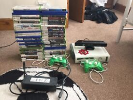 X-Box 360 with 60 games,2 Controlers