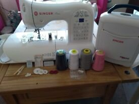Singer One Sewing Machine and Accessories, Very Good Condition
