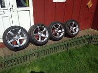 """genuine mercedes 18"""" amg alloy wheels with 4 new michelin pilot tyres costing £700 bargain only £550"""