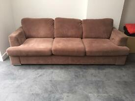 3 seater sofa with 2 footstools