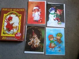 Job lot of vintage christmas cards and wrapping paper