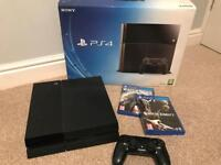 PS4 500Gb with 2 games / original box
