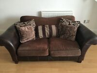 Two fabric and leather used Next sofas.