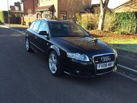 08 AUDI A4 S LINE TDI AUTO AUTOMATIC AVANT ESTATE CAR 118K FSH BARGAIN NEW CAM BELT £4995