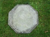 Two Ornamental Decorative Slabs Stepping Stones Shabby Chic Style