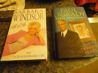 BARBARA WINDSOR ALL OF ME & PAUL O'GRADY THE SAVAGE YEARS HARDBACKS COST £40 SELLING FOR £10 !