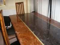 Italian granite dining table and chairs