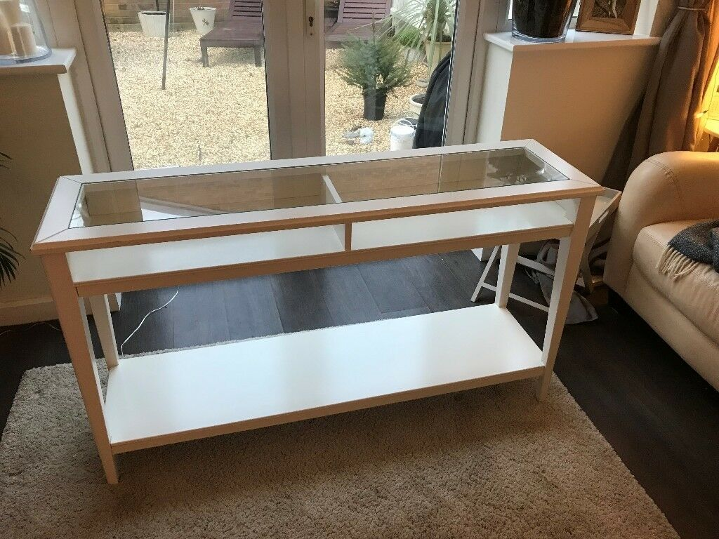 Ikea Liatorp Consol Hallway Table White Good Condition