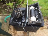 Pond complete pump and filter kit - fully working