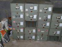 vintage filing cabinets