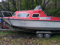Microplus 561 , with double wheeel base galvanised trailer and 25hp Evinrude outboard.£2000 ono.