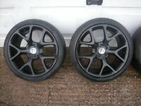 Vauxhall Astra Genuine 18 inch VXR Black Alloy Wheels With Tyres 5x110