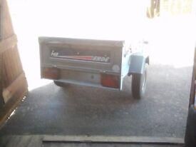 5x4 galvanized erde trailer in new condition