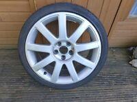 """Audi TT / A2 Sport 17"""" 9 spoke wheel inc 205/40 tyre"""
