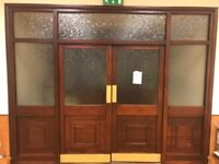 Traditional Mahogany Double Entrance Internal Doorset With Hardwood Frame & All Furniture