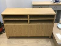 BESTA IKEA oak TV unit/stand