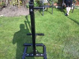 Gym bench press/squat stand