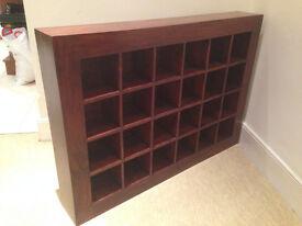 Wooden CD Matrix Storage Unit