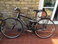 Black Specialized Sirrus 24 speed unisex sport road hybrid bike - XS frame ideal for women, youth