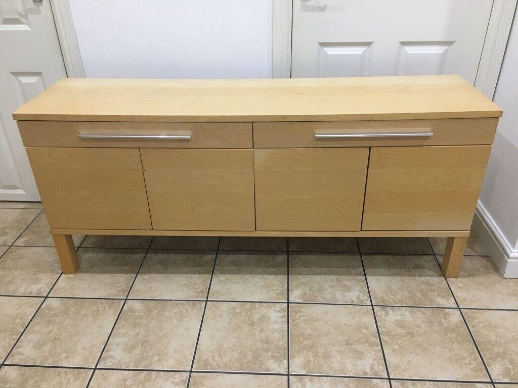 Ikea Bjursta Credenza : Bjursta sideboard birch veneer ikea home furnishings