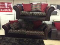 Aztec design 3 plus 2 seater sofa set