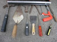 20 Assorted Hand Tools including Hammers saw spirit level etc