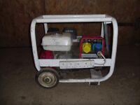 240 & 110 volt 2.2 kva Markon generator, with a Honda 6.5 hp engi--ne