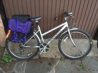 Great Raleigh spirit ladies touring or station bike with pannier and bag
