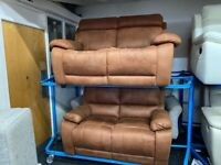 NEW - EX DISPLAY LAZYBOY VICTOR 2 + 2 SEATER RECLINER SOFAS 70%Off RRP SALE