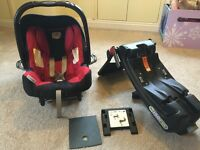 Britax KidSafe II seat + Isofix base - can be used with base or seatbelt