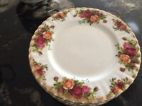 Royal Albert Old Country Roses 6 inch tea plate, unused, 6 available