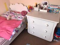 Kids bed frame and chest draw