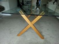 Habitat glass dining table £95
