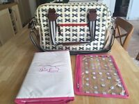 *** Pink Lining Changing Bag AS NEW £30 ***