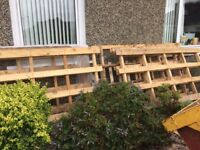 Large pallets gone pending collection