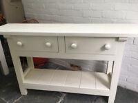 Vintage Old pine Side Board, Dresser base,kitchen work table painted