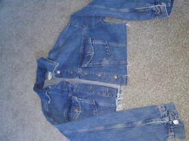 Top shop denim jacket size 8