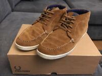 Fred Perry Cole Suede Ginger Boots Size 10